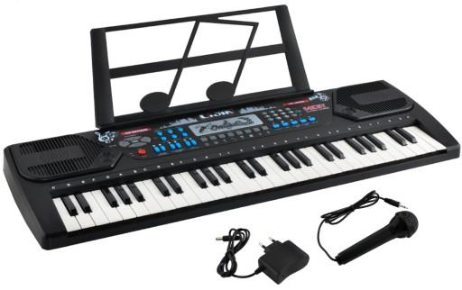 Duże Organy Keyboard Pianino do Nauki 54 Mikrofon