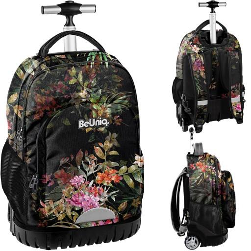 Plecak Na Kolkach Kwiaty Mlodziezowy Beuniq Paso 9441289681 Allegro Pl