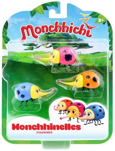 MONCHHICHI - FIGURKI MONCHHINELLES ZESTAW 3-PAK