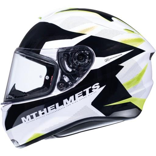 Kask Motocyklowy Mt Helmets Targo Bialy Fluo S Grojec Allegro Pl