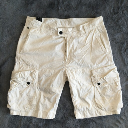 STONE ISLAND spodenki cargo męskie białe 9606228167 Odzież Męska Spodenki NV ZPOGNV-1