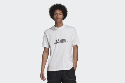 ADIDAS ADVENTURE GRAPHIC TEE GD5609 KOSZULKA MĘSKA 9842070600 Odzież Męska T-shirty ZA XLTAZA-7