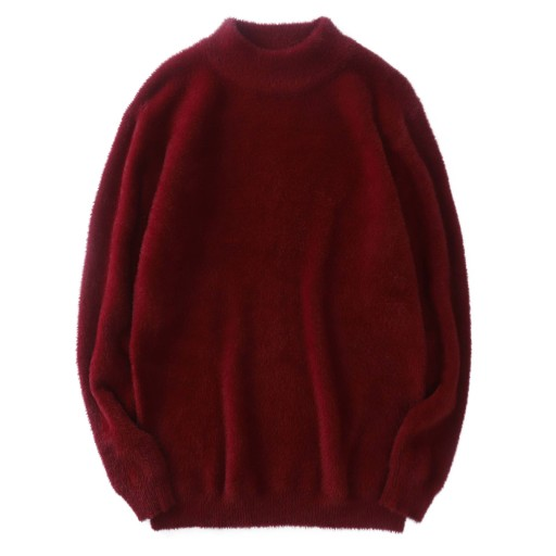 Sweter męski z pÓłgolfem, jednokolorowy sweter 10709685958 Odzież Męska Swetry FZ FSYMFZ-1