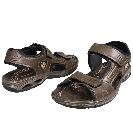 Sandały męskie Pegada 132906 brąz skÓra r.43 10575108869 Obuwie Męskie Męskie JD ITORJD-3