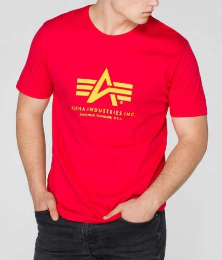 T-shirt koszulka ALPHA INDUSTRIES BASIC 100501 328 10639075999 Odzież Męska T-shirty BI AAMUBI-5