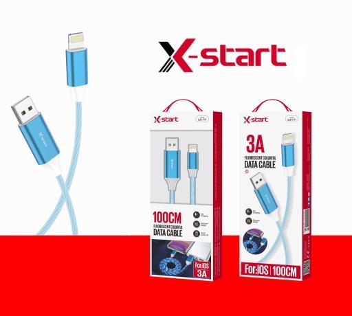 Kabel USB iOS 3A 100cm SJX-191 X-start Niebieski