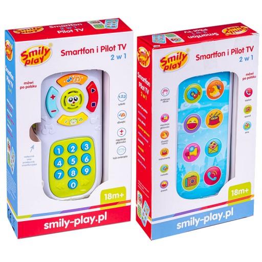 SMARTFON I PILOT TV 2W1 EDUKACYJNY SMILY PLAY