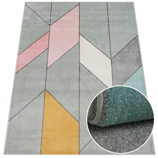 Dywan Sanford pastelowy 160x220 Geometria canvas