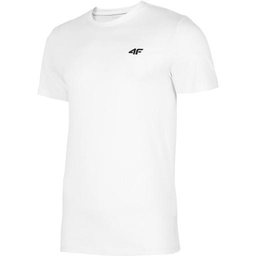 KOSZULKA MĘSKA 4F T-SHIRT BAWEŁNIANA BIAŁA XL 9493784264 Odzież Męska T-shirty MI BDLYMI-7
