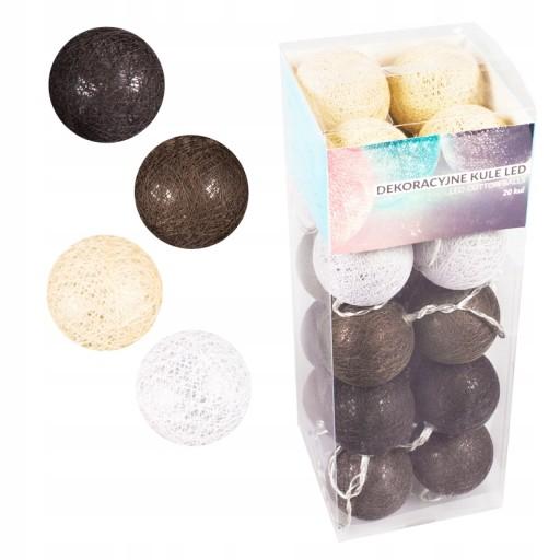 Cotton Balls Dekoracyjne Kule Lampki Led 20 Kul 7118745816 Allegro Pl