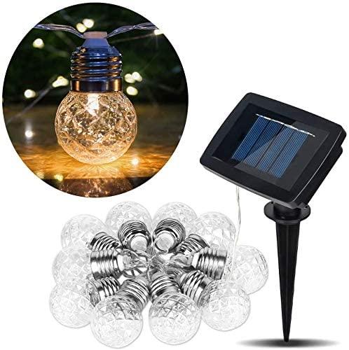 Girlandy Lampki Ogrodowe Solarne LED 10szt Żarówki