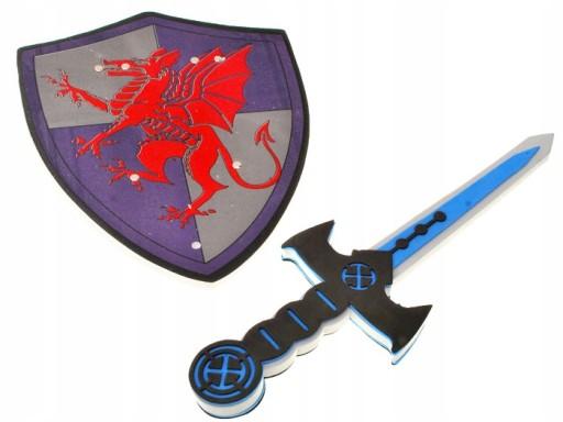 Miecz piankowy + tarcza dla rycerza