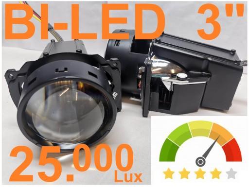 Mocne Soczewki BI-LED 3'' szerokie vs KOITO