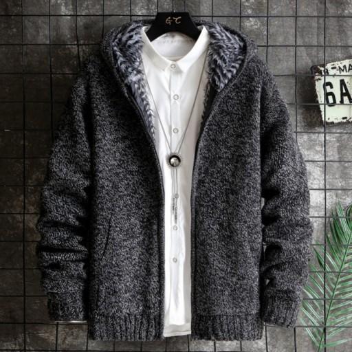 Sweter z grubego pluszu 10021421043 Odzież Męska Swetry YK BTPFYK-1