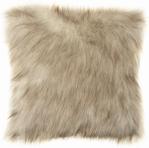 Poszewka na poduszkę plusz futrzak 40x40 Kremowa