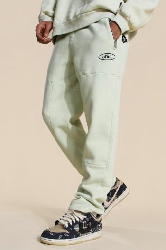 A07M007 JASNOZIELONE SPODNIE DRESOWE BOOHOO XS 10773376608 Odzież Męska Spodnie TD TCAUTD-9