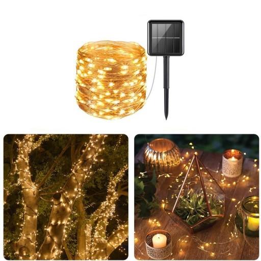 Girlandy Lampki Ogrodowe Solarne LED 100 szt 10m