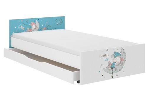 Łóżko PUFI dziecięce 180x90 + materac + szuflada !