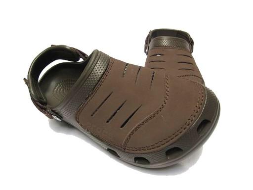 Crocs Yukon Klapki sandały buty dziury brązowy 10710199542 Obuwie Męskie Męskie LT JDCZLT-2