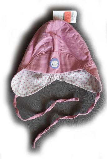 Czapka wiązana różowa wiosna obwód 50cm Cool Club