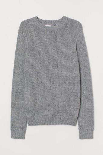 H&M Sweter w strukturalny splot rozm.XS 10764512387 Odzież Męska Swetry XD ZAHJXD-7