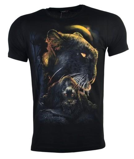 Koszulka t-shirt świecąca w ciemności pantera r.XL