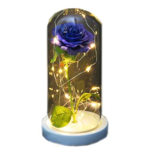 Szklana Wieczna Roza W Szkle Lampki Swiatelka Led 9939047551 Allegro Pl