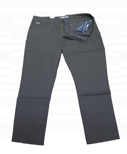 9XL DUŻE CIENKIE SPODNIE SZARE STRECZ PAS 134CM 10771658731 Odzież Męska Spodnie XF YPSLXF-9
