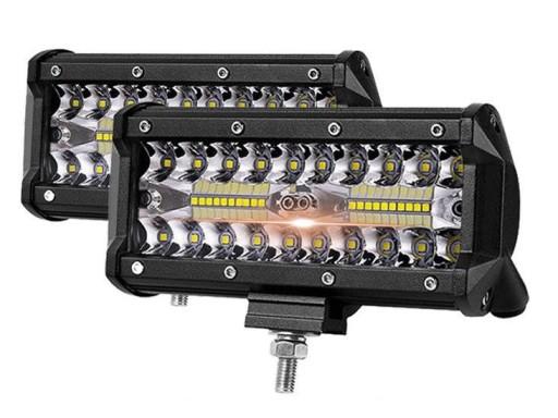 RINKINYS 2 x HALOGENAS ZIBINTAS (LEMPOS-FAROS) VEIKIANTIS LED - 120W 2010M-30V