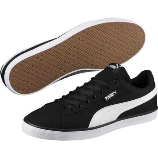 Czarne Tekstylne Buty Męskie Sportowe Puma r.42,5