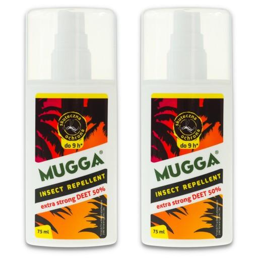 2x Mugga Spray Strong 50 Deet Komary Kleszcze Gzy 7233256972 Allegro Pl
