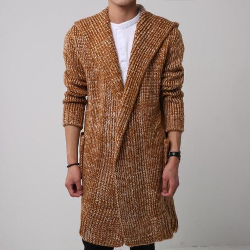 em długi sweter modny męski sweter Dzianina męska 9814364006 Odzież Męska Swetry SL LQHNSL-6