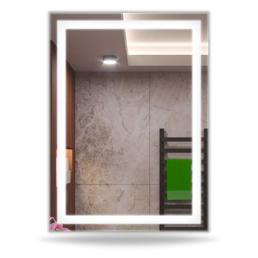 Lustro Łazienkowe Podświetlane 40x50 LED MALAGA