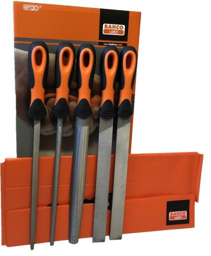 BAHCO Напильники слесарные набор 250 мм, 5 шт