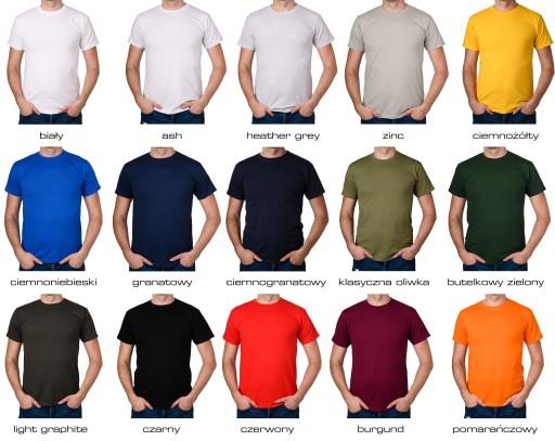 NAJLEPSZY MĄŻ NA ŚWIECIE LEPSZY DLA MĘŻA koszulka 8974739046 Odzież Męska T-shirty ND CCOJND-6