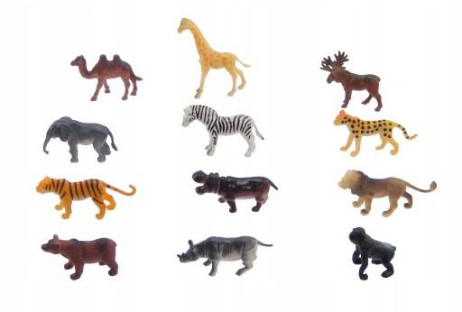 A1349 Małe dzikie zwierzęta figurki 12szt zestaw