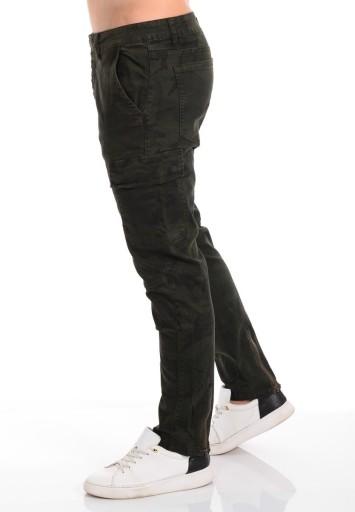 2688 Męskie Spodnie Moro Suwaki Khaki 30 7734829051 Odzież Męska Spodnie YS LWQOYS-3