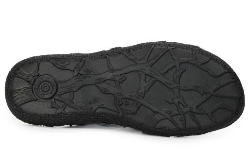 Sandały męskie skÓrzane czarne polskie KamPol r.41 10533732334 Obuwie Męskie Męskie JS BCJDJS-5