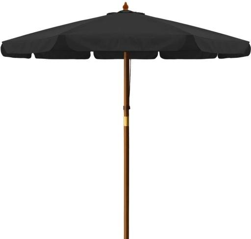 Drewniany Parasol Ogrodowy Czarny 330 Cm 9604899296 Allegro Pl