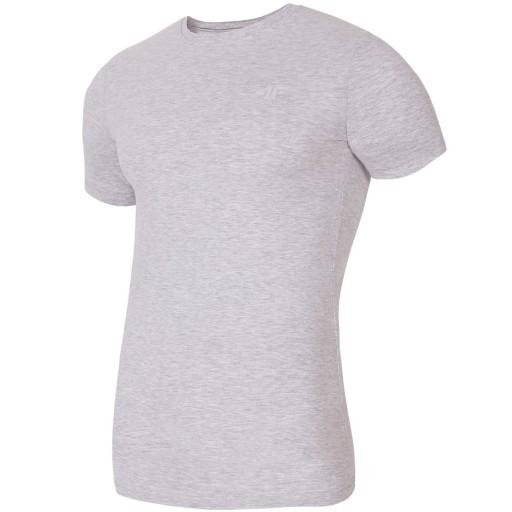 4F koszulka H4L18-TSM023 szara XL 9172054671 Odzież Męska T-shirty ZH FBVMZH-5