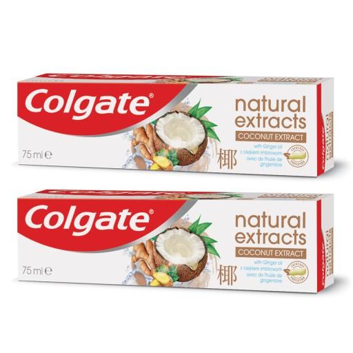 COLGATE NATURAL KOKOS IMBIR pasta do zębów 2x75 ml