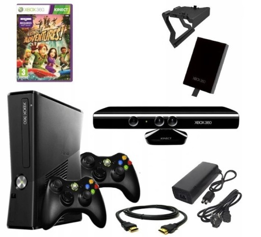 Xbox 360 Slim 250gb Kinect 2xpad Gry 7682294019 Sklep Internetowy Agd Rtv Telefony Laptopy Allegro Pl