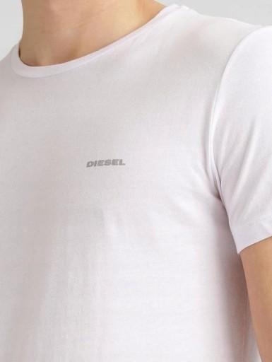 DIESEL Klasyczna Biała Koszulka Logo O-neck _ XL 10776720448 Odzież Męska T-shirty WF SLPSWF-1