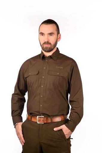 Koszula szybkoschnąca SNORRI VikinX, brązowa,r.M