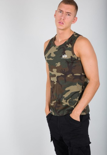 Alpha Industries T-shirt Small Logo Tank MORO XL 9967821058 Odzież Męska T-shirty WA EDNFWA-6
