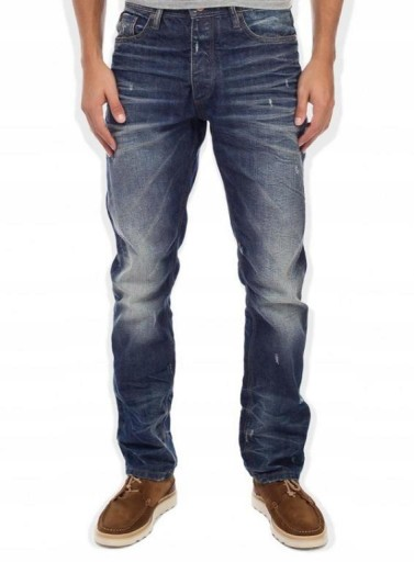 JACK JONES jeansy REGULARNE przetarcia USED 29/32 9860847507 Odzież Męska Jeansy JT CTFQJT-9