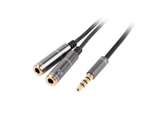 Rozdzielacz kabel mini jack AUX mikrofon słuchawki