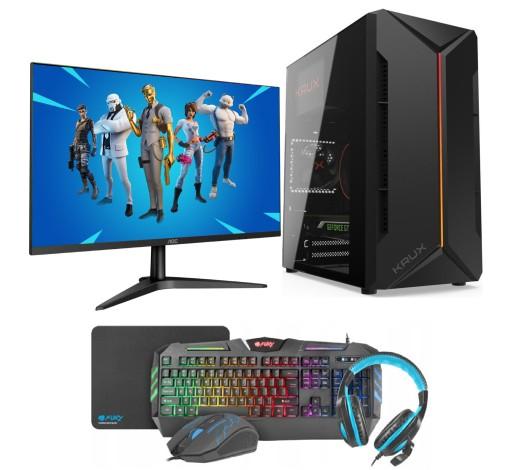 Zestaw Do Gier I5 8gb 1tb Geforce Gt Monitor 24led Sklep I Komputery Stacjonarne Allegro Pl
