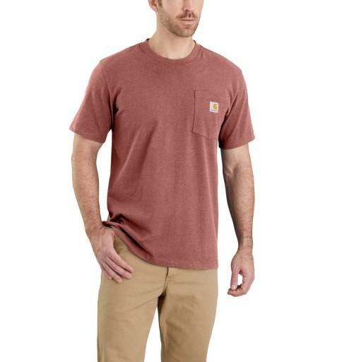 Koszulka Amerykańska Carhartt Workwear z kieszonką 10592317407 Odzież Męska T-shirty NN IJFHNN-6