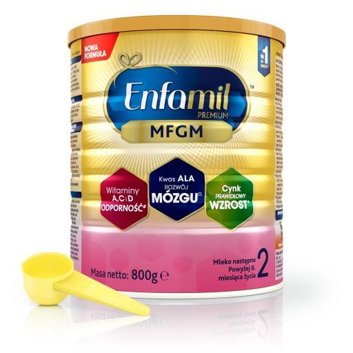 Enfamil Premium MFGM 2 mleko następne 800 g